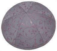 Lilac Vine Silk Kippah