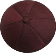 Burgundy Raw Silk Kippah