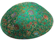 Green Brocade Kippah