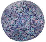 Blue Brocade Kippah