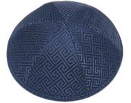 Blue Link Brocade Kippah