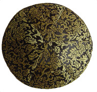 Black Pattern Brocade Kippah