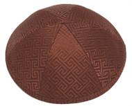 Brown Link Brocade Kippah