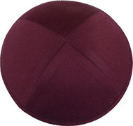 Burgundy Cotton Kippah