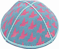 Dove Embossed Kippah