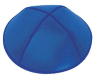 Royal Blue Leather Kippah