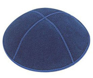 Dark Royal Blue Suede Kippah