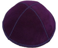 Purple Suede Kippah