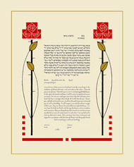 Arts & Crafts Roses Ketubah