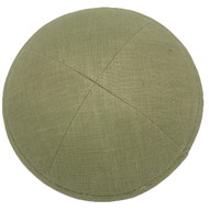 Light Olive Linen Kippah