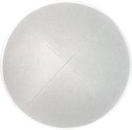 Pure White Linen Kippah