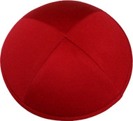 Bright Red Cotton Kippah