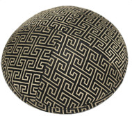 Black & Gold Link Brocade Kippah