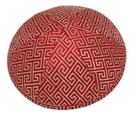 Orange Link Brocade Kippah