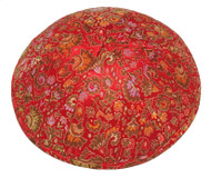 Red Bouquet Brocade Kippah