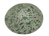 Green Fern Brocade Kippah