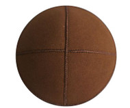 Cocoa Brown Eco Suede Kippah