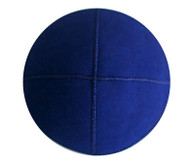 Dark Blue Eco Suede Kippah