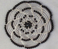 Black Beads Womens Kippah