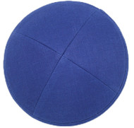 Royal Blue Linen Kippah