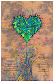 Emerald Ketubah by Nava Shoham