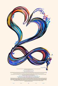Infinite-Love Ketubah by Nava Shoham