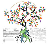 Under The Love Tree Ketubah by Ruth Rudin