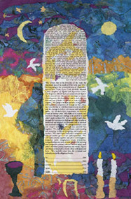 Colors Of Life Ketubah by Nishima Kaplan