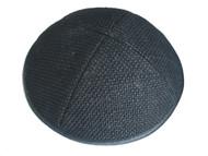 Black Burlap Kippah