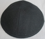Black Wool Kippah