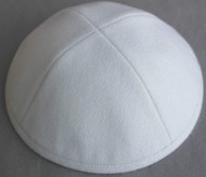 White Wool Kippah