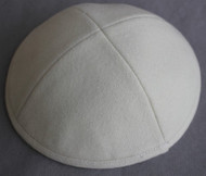 Cream Wool Kippah