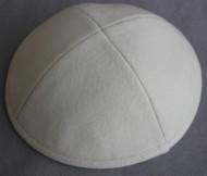 Cream Wool Kippah