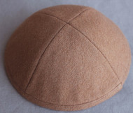 Light Brown Wool Kippah
