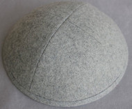 Heather Gray Wool Kippah