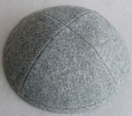 Gray Wool Kippah