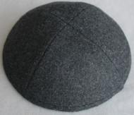 Charcoal Wool Kippah