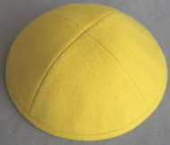 Yellow Wool Kippah