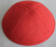 Red Wool Kippah