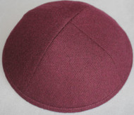Burgundy Wool Kippah
