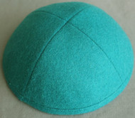 Teal Wool Kippah