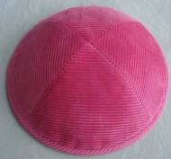 Pink Corduroy Kippah