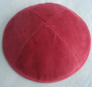 Dark Red Corduroy Kippah