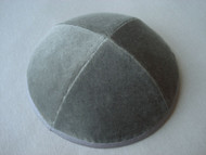 Medium Grey Velvet Kippah