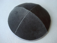 Charcoal Grey Velvet Kippah