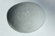 Grey Knit Kippah
