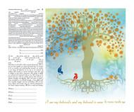 Wishing Tree II Ketubah by Ruth Rudin