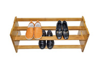 Luxury Stackable Bamboo Shoe Rack-Double Tiers