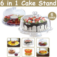 6 In 1 Multi-Function Wedding Cup Cake Stand Party Cupcake Acrylic Display
