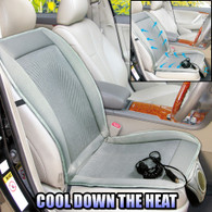 Car AUTO Truck Seat Cover Cushion Adjustable Fan Cooler Fan Air Conditioned 12V DC (Grey)